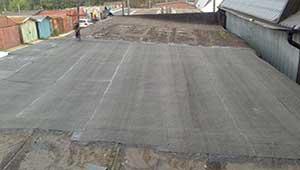 Выполненный ремонт крыши гаража.
