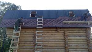 Монтаж крыши из гибкой черепицы