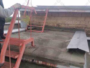 Ремонт крыши шахты выхода многоэтажного дома