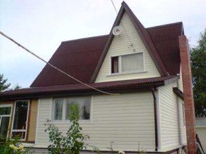 Дачная крыша из ондулина