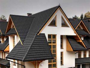 Крыша покрытая композитной черепицей