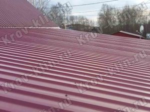 Монтаж профнастила на крышу С-21