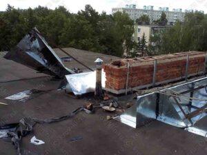 Демонтаж зонта с вентиляционной шахты