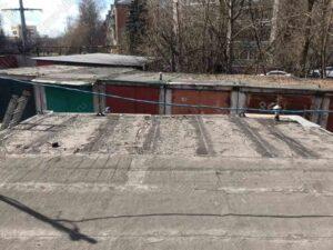 Крыша гаража покрытая рубероидом