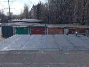Крыша гаража после устройства мягкой кровли